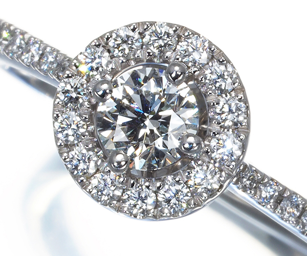 フォーエバーマーク リング ダイヤモンド 0.31ct F SI1 VG センターオブマイユニバース