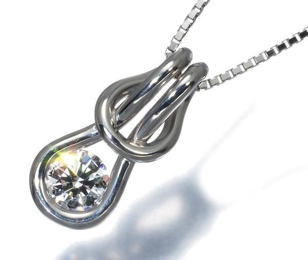 フォーエバーマーク ネックレス ダイヤ 0.30ct エンコルディア Pt900/Pt850/プラチナ