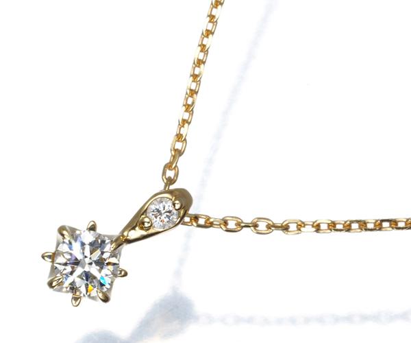スタージュエリー ネックレス ダイヤモンド 0.11ct K18YG
