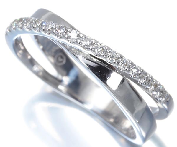 ヴァンドーム リング ダイヤモンド 0.16ct 8号 K18WG