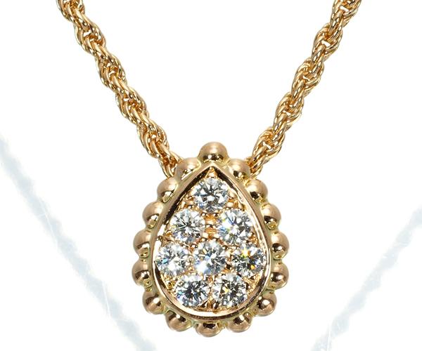 ブシュロン ネックレス ダイヤモンド セルパンボエム K18PG/ポーチ/クロス