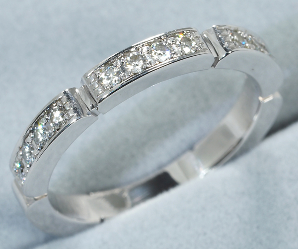 カルティエ リング ダイヤモンド マイヨンパンテール 49号 K18WG