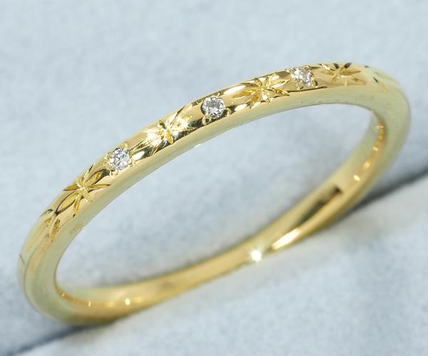 アーカー リング ダイヤモンド 0.01ct 7号 K18YG