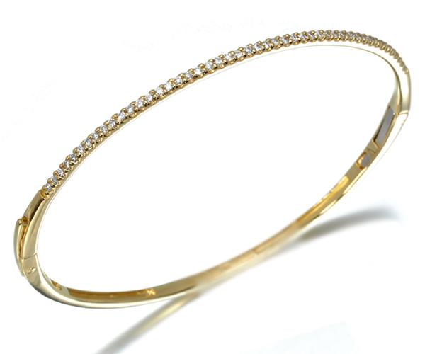 ポンテヴェキオ ブレスレット ダイヤモンド 0.35ct バングル K18YG