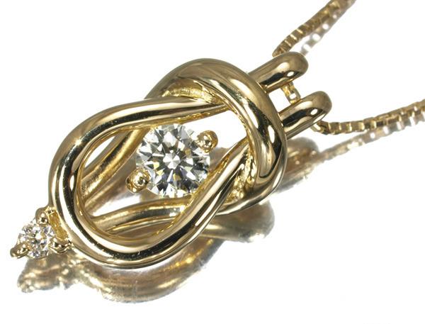 フォーエバーマーク ネックレス ダイヤ 0.20ct エンコルディア ネックレス K18YG