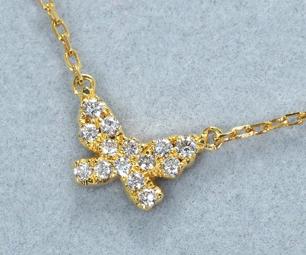 アーカー ブレスレット ダイヤモンド バタフライパヴェ K18YG