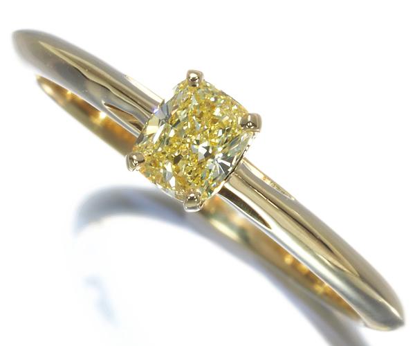 ティファニー リング FANCY INTENSE YELLOW イエローダイヤモンド 0.320ct K18YG