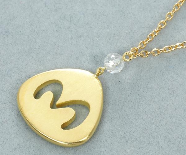 ギメル ネックレス ダイヤモンド 0.252ct イニシャル 『M』 K18YG