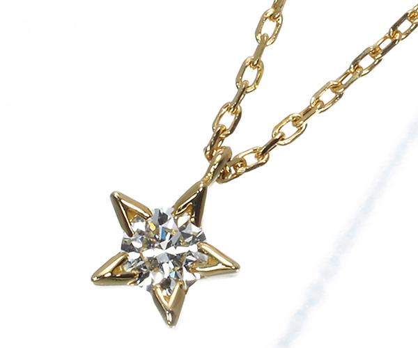 アーカー ネックレス ダイヤモンド 0.06ct スターリーエトワール K18YG