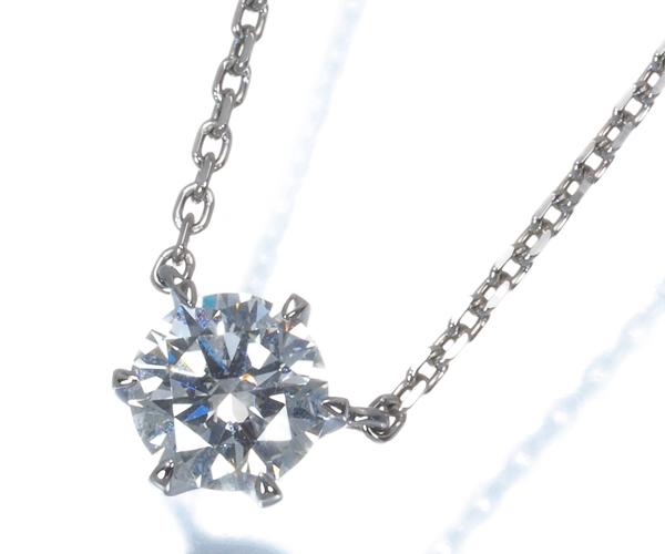 スタージュエリー ネックレス 一粒 ダイヤモンド 0.353ct Pt950