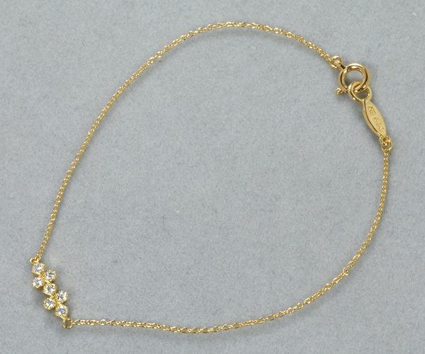 アーカー ブレスレット ダイヤモンド 0.08ct フローレント K18YG