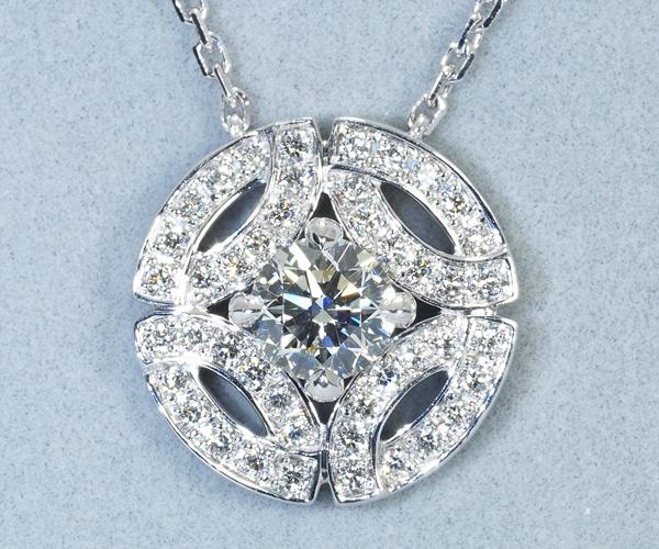 カルティエ ネックレス ダイヤモンド 0.30ct H VVS1 3EX ガラントリー K18WG