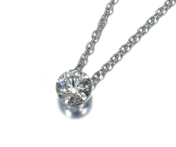 スタージュエリー ネックレス 一粒 ダイヤモンド 0.30ct Pt950