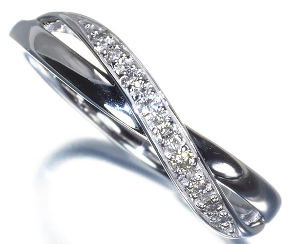 4℃ リング ダイヤモンド 10号 K18WG