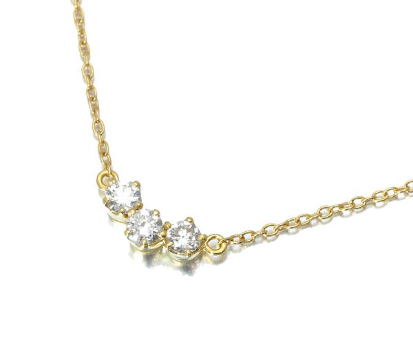 アーカー ダイヤモンド 0.10ct ブレスレット トレス K18YG