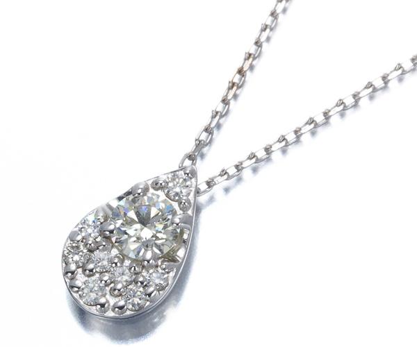 ヴァンドーム ネックレス ダイヤモンド 0.10ct K18WG