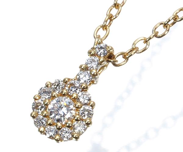 ポンテヴェキオ ネックレス ダイヤモンド 0.10ct K18YG
