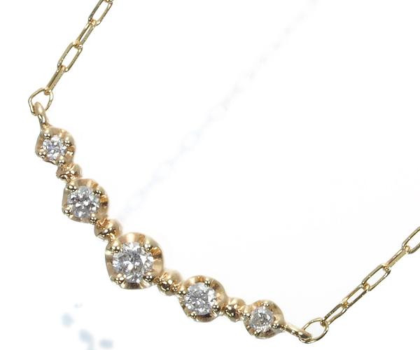 4℃ ヨンドシー ネックレス ダイヤモンド K10YG