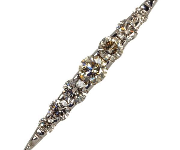 カシケイ ネックレス ダイヤモンド 0.50ct ネイキッド K18WG