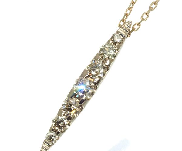 カシケイ ネックレス ダイヤモンド 0.40ct ネイキッド K18BG