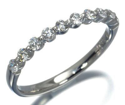 ヴァンドーム リング 指輪 ダイヤ 0.33ct ハーフエタニティ Pt950/プラチナ