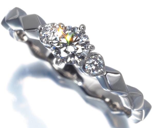 アーカー リング ダイヤモンド 0.250ct E VS1 3EX H&C ロサンジュ 9号 Pt900