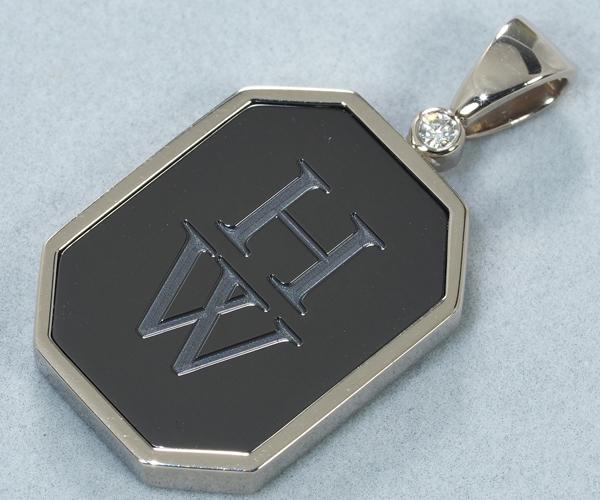 ハリーウィンストン ペンダントトップ ダイヤモンド HWロゴ K18WG/ザリウム