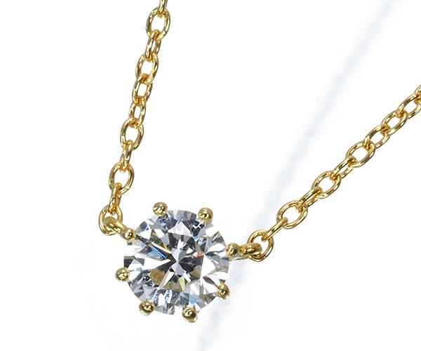 アーカー ネックレス ダイヤモンド 0.15ct ソルティアラウンド K18YG