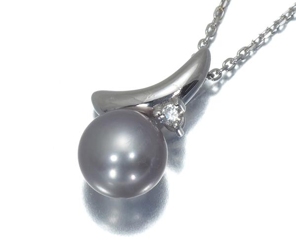 TASAKI タサキ ネックレス 淡水真珠 パール 7.2mm珠 ダイヤモンド K18WG