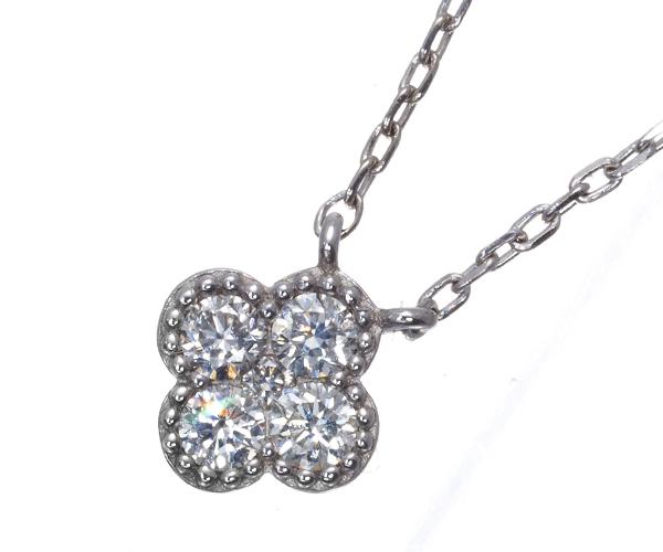 ヴァンドーム ネックレス ダイヤモンド フラワー K18WG