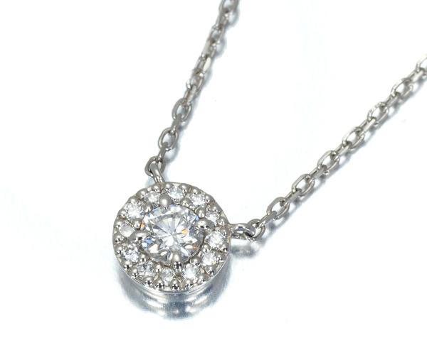4℃ ヨンドシー ネックレス ダイヤモンド 0.102ct Pt850
