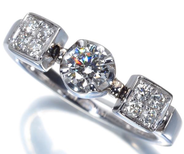 ブルガリ リング ダイヤモンド 0.30ct D VS1 ルチア 10号 K18WG