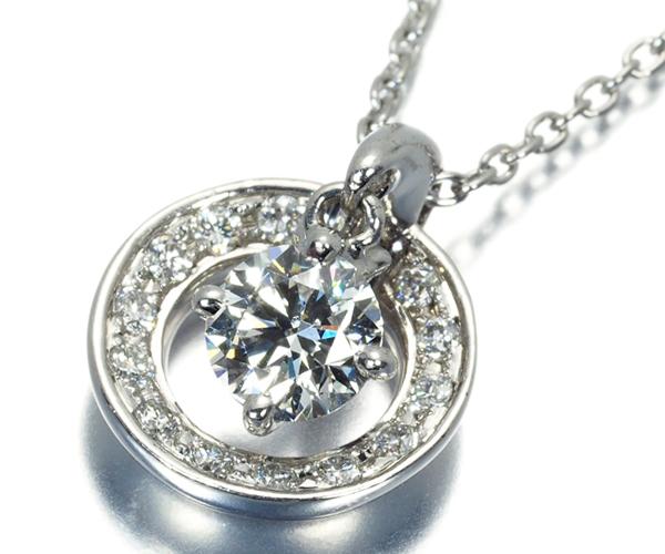 フォーエバーマーク ネックレス ダイヤモンド 0.30ct E SI2 EX Pt900/Pt850