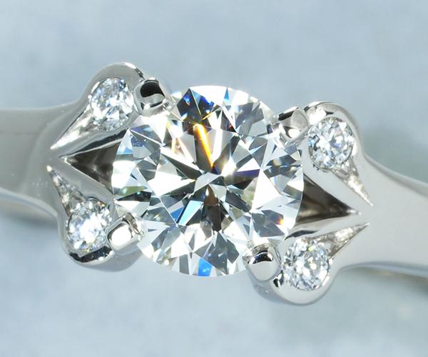 カルティエ リング ダイヤモンド 0.44ct G VVS2 3EXバレリーナ 49号 Pt950