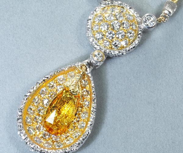 フェデリコ ブチェラッティ ネックレス イエローベリル ダイヤモンド K18YG/WG