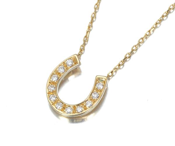 ヴァンドーム ネックレス ダイヤモンド ホースシュー K18YG