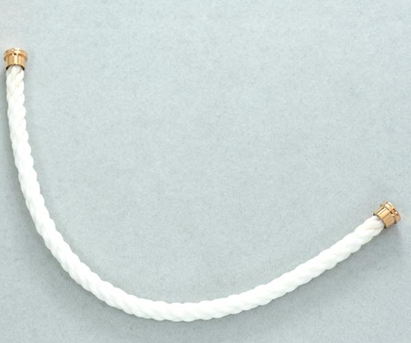 フレッド ブレスレット用コード フォース10 LM テキスタイルケーブル ホワイト 16刻印 SS