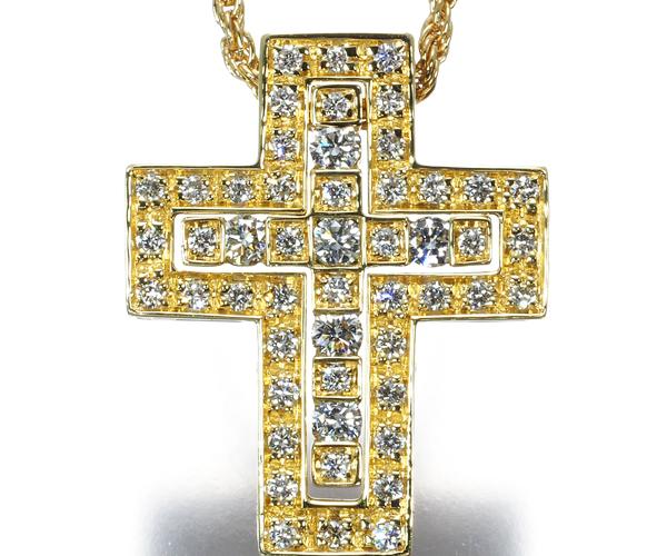 ダミアーニ ネックレス フルセッティング ダイヤモンド ベルエポック クロス K18YG
