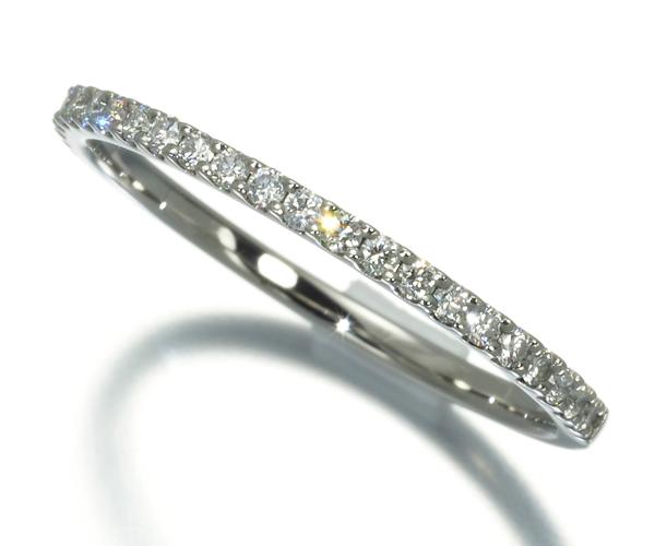 スタージュエリー リング ダイヤモンド 0.15ct ハーフエタニティ 11号 Pt950
