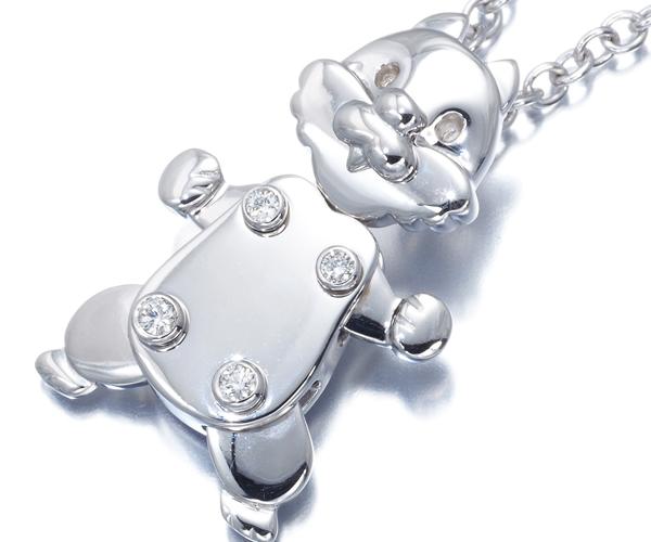 ポメラート ネックレス ダイヤモンド リス K18WG