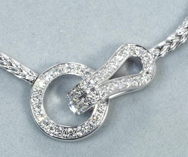 カルティエ ブレスレット ダイヤモンド アグラフ K18WG