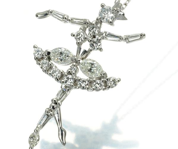 TASAKI タサキ ネックレス ダイヤモンド 0.61ct バレリーナ Pt850