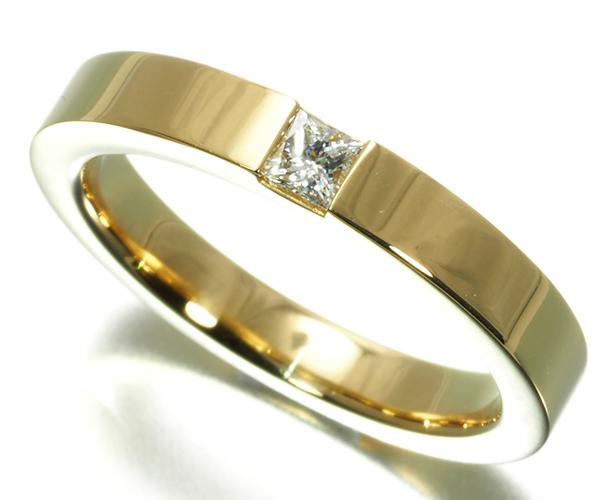 ハリーウィンストン リング ダイヤモンド プリンセスカット マリッジ K18YG 10号