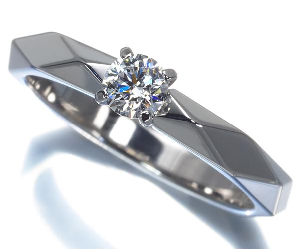ブシュロン リング ダイヤモンド 0.23ct D VVS2 3EX ファセット 51号 Pt950