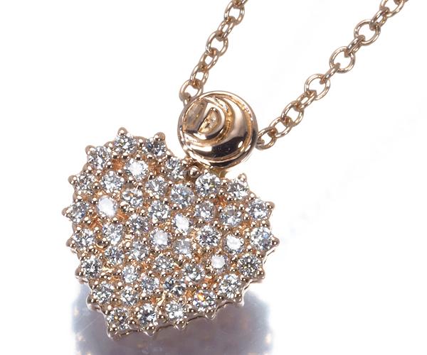 ダミアーニ ネックレス ダイヤモンド クオーリロゴ ハート K18PG