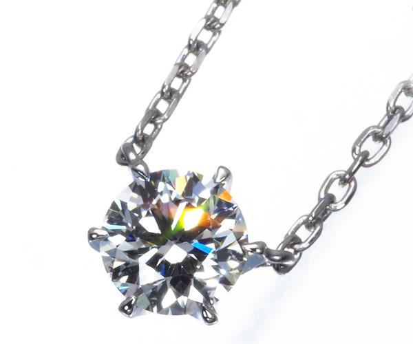 スタージュエリー ネックレス 一粒 ダイヤモンド 0.217ct D VS2 3EX Pt950