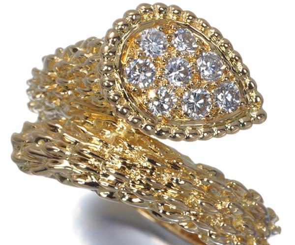 ブシュロン リング ダイヤモンド セルパンボエム 52号 K18YG