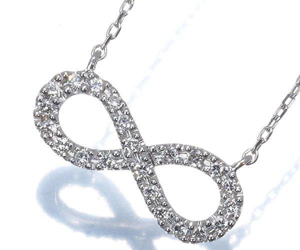スタージュエリー ネックレス ダイヤモンド 0.06ct K18WG
