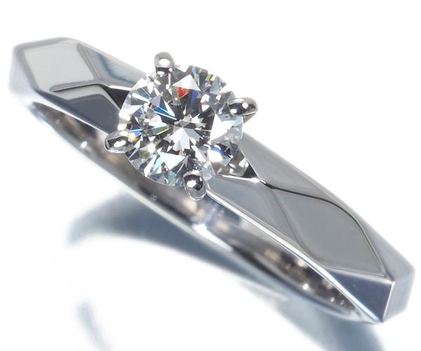 ブシュロン リング ダイヤモンド 0.36ct F VVS2 3EX ファセット 46号 Pt950