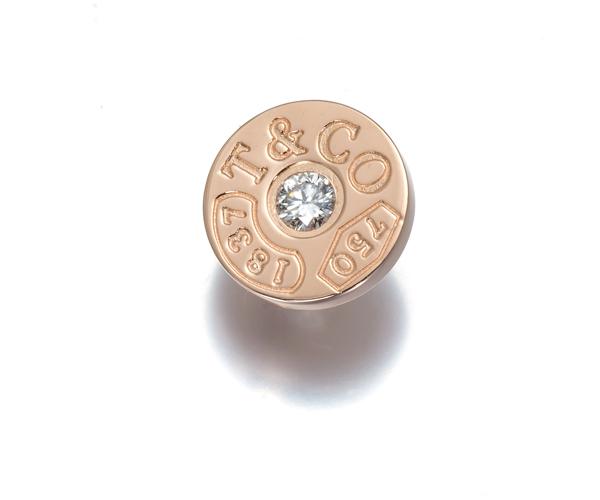 ティファニー ピアス ダイヤモンド 1837 サークル 片耳 K18PG